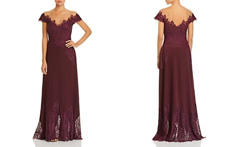 Tadashi Shoji Lace-Appliquéd Crepe Gown - Bloomingdale's_2