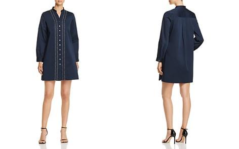 Badgley Mischka Embellished Shirt Dress - Bloomingdale's_2