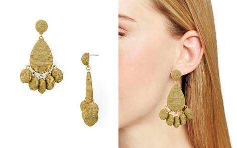 AQUA Fabric Wrapped Drop Earrings - 100% Exclusive - Bloomingdale's_2