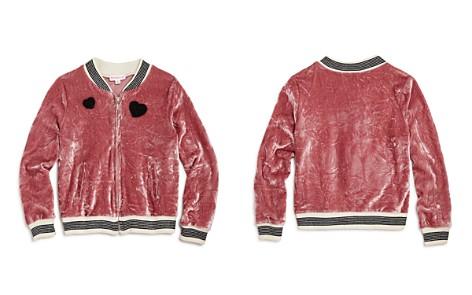Design History Girls' Crushed Velvet Bomber Jacket - Little Kid - Bloomingdale's_2