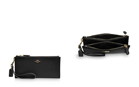 COACH Double Zip Wristlet Leather Wallet - Bloomingdale's_2