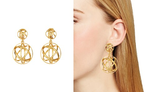 Oscar de la Renta Globe Clip-On Earrings - Bloomingdale's_2
