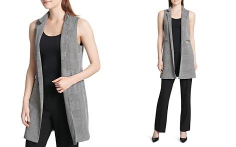 Calvin Klein Glen Plaid Long Blazer Vest - Bloomingdale's_2
