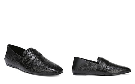 Vince Women's Harris Almond-Toe Textured Patent Leather Loafers - Bloomingdale's_2