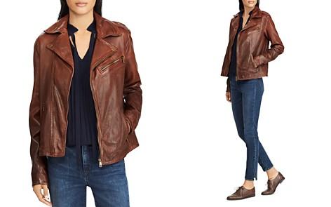 Lauren Ralph Lauren Tumbled Leather Moto Jacket - Bloomingdale's_2