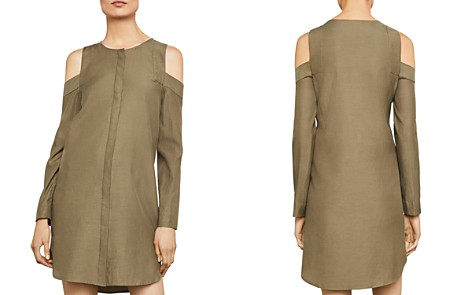 BCBGMAXAZRIA Cold-Shoulder Shirt Dress - Bloomingdale's_2