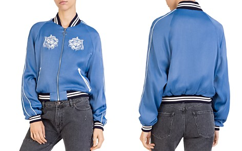 The Kooples Embroidered Satin Bomber Jacket - Bloomingdale's_2