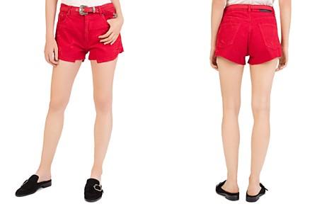 The Kooples Western Buckle Denim Shorts - Bloomingdale's_2