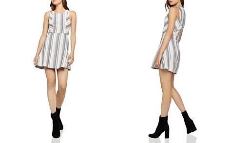 BCBGeneration Cutout Striped Jacquard Dress - Bloomingdale's_2