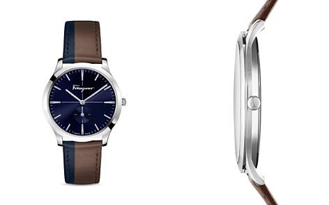 Salvatore Ferragamo Slim Formal Brown & Blue Strap Watch, 40mm - Bloomingdale's_2