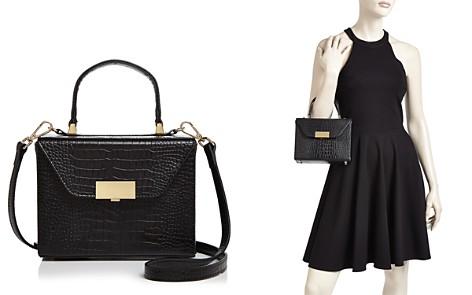 AQUA Medium Croc-Embossed Box Bag Satchel - 100% Exclusive - Bloomingdale's_2