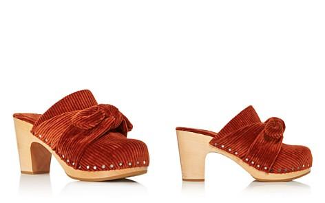 Loeffler Randall Women's Neko Round Toe Wooden High-Heel Clogs - Bloomingdale's_2