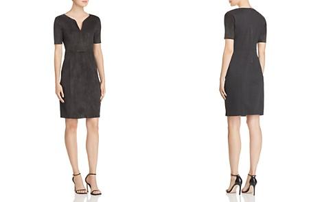 Elie Tahari Emily Suede-Front Dress - Bloomingdale's_2