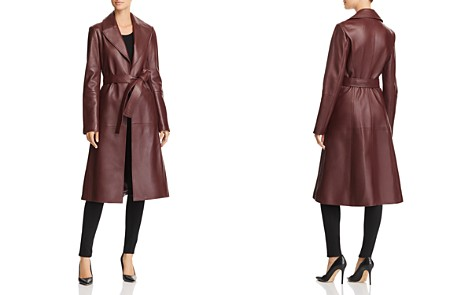 Theory Leather Trench Coat - Bloomingdale's_2