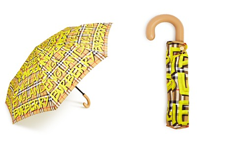 Burberry Trafalgar Packable Marker Pen Check Umbrella - Bloomingdale's_2