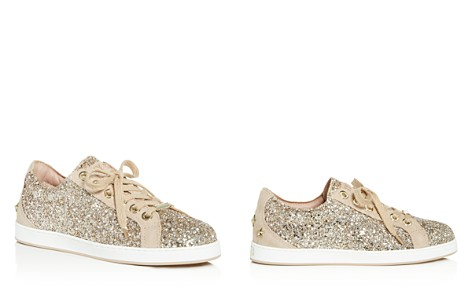 Jimmy Choo Women's Cash Glitter Lace Up Sneakers - Bloomingdale's_2