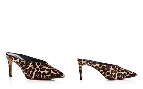 Rebecca Minkoff Women's Gabian Leopard Print Calf Hair Mid-Heel Mules - Bloomingdale's_2