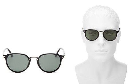 Persol Men's Polarized Round Sunglasses, 51mm - Bloomingdale's_2