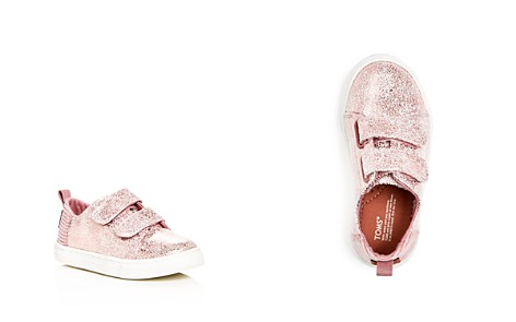 TOMS Girls' Lenny Crackled Leather Sneakers - Baby, Walker, Toddler - Bloomingdale's_2
