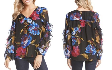Karen Kane Floral-Print Ruffle-Sleeve Top - Bloomingdale's_2