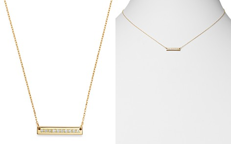 "Adina Reyter 14K Yellow Gold Pavé Diamond Rectangle Stamp Pendant Necklace, 16"" - Bloomingdale's_2"