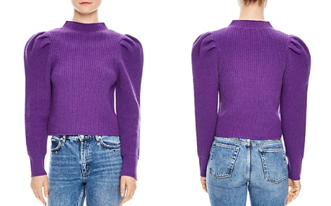 Sandro Hibou Ribbed Oversize-Shoulder Wool Sweater - Bloomingdale's_2
