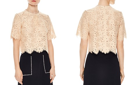 Sandro Utopie Scalloped Lace Top - Bloomingdale's_2