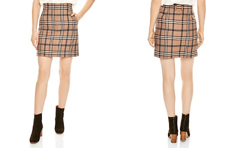 Sandro Sunset Plaid A-line Skirt - Bloomingdale's_2