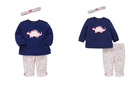 Little Me Girls' Dino Sweatshirt, Leggings & Headband Set - Baby - Bloomingdale's_2