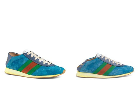 Gucci Women's Suede & Leather Lace Up Sneakers - Bloomingdale's_2