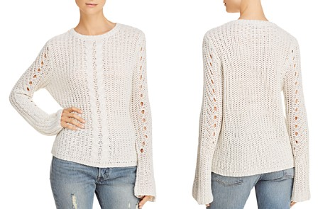 AQUA Cable-Knit Detail Sweater - 100% Exclusive - Bloomingdale's_2