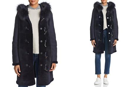 Maximilian Furs Reversible Fox Fur Trim Hooded Lamb Shearling Coat - 100% Exclusive - Bloomingdale's_2