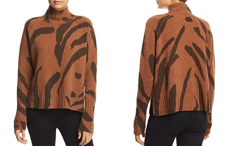 Whistles Zebra Print Wool Sweater - Bloomingdale's_2