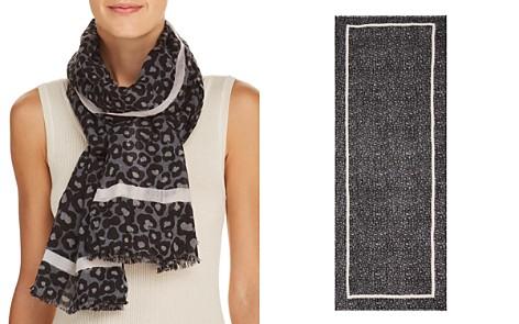 AQUA Leopard Print Wool Scarf - 100% Exclusive - Bloomingdale's_2