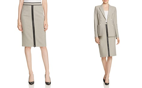 BOSS Voliviena Check-Print Pencil Skirt - Bloomingdale's_2