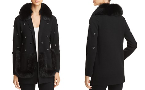Kobi Halperin Chrissie Fur-Trimmed Embellished Cardigan - Bloomingdale's_2