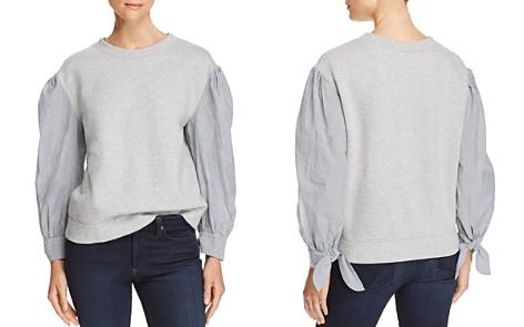 La Vie Rebecca Taylor Mixed-Media Sweatshirt - Bloomingdale's_2