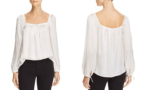 Rebecca Taylor Silk Charmeuse Square-Neck Top - Bloomingdale's_2