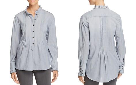 La Vie Rebecca Taylor Striped Ruffle-Trim Shirt - Bloomingdale's_2