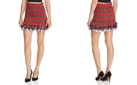 Endless Rose Smocked Plaid Skirt - Bloomingdale's_2