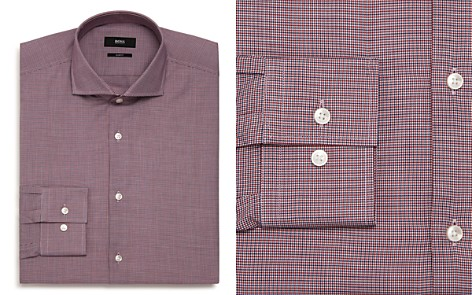 BOSS Micro-Herringbone Slim Fit Dress Shirt - Bloomingdale's_2