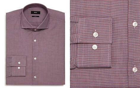 BOSS Micro-Herringbone Slim Fit Dress Shirt - Bloomingdale's_2