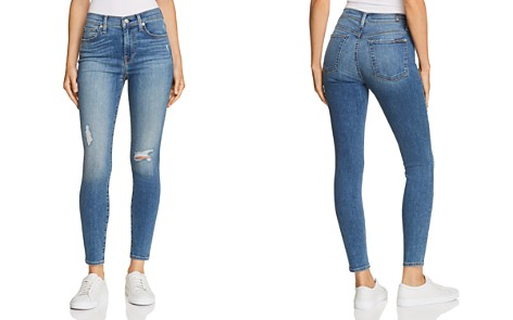 7 For All Mankind High Waist Ankle Skinny Jeans in Gilded Dawn - Bloomingdale's_2