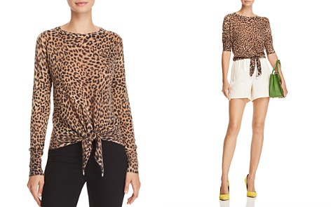 Olivaceous Leopard-Print Tie-Front Sweater - Bloomingdale's_2