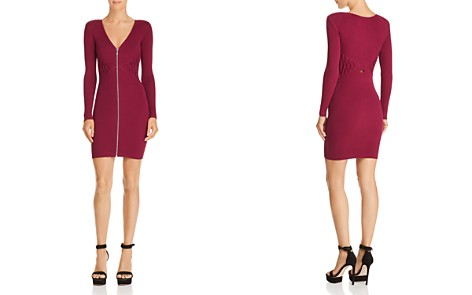 GUESS Knit Zip-Front Dress - Bloomingdale's_2
