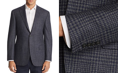 Canali Plaid Classic Fit Wool Sport Coat - Bloomingdale's_2