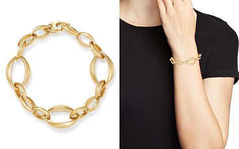 Bloomingdale's Slim Oval Interlock Bracelet in 14K Yellow Gold - 100% Exclusive_2