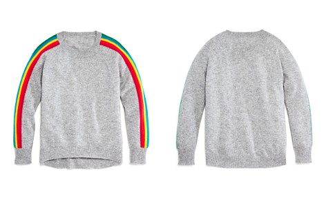 AQUA Girls' Rainbow-Striped Cashmere Sweater, Big Kid - 100% Exclusive - Bloomingdale's_2
