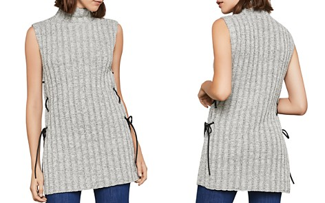 BCBGMAXAZRIA Lace-Up Tunic Sweater - Bloomingdale's_2