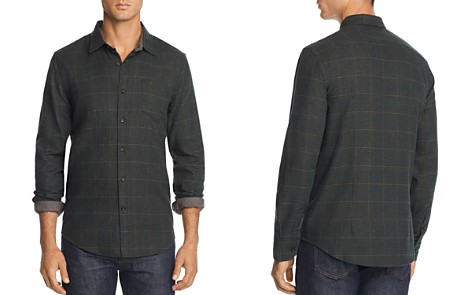 The Men's Store at Bloomingdale's Plaid Houndstooth-Print Regular Fit Flannel Shirt - 100% Exclusive_2